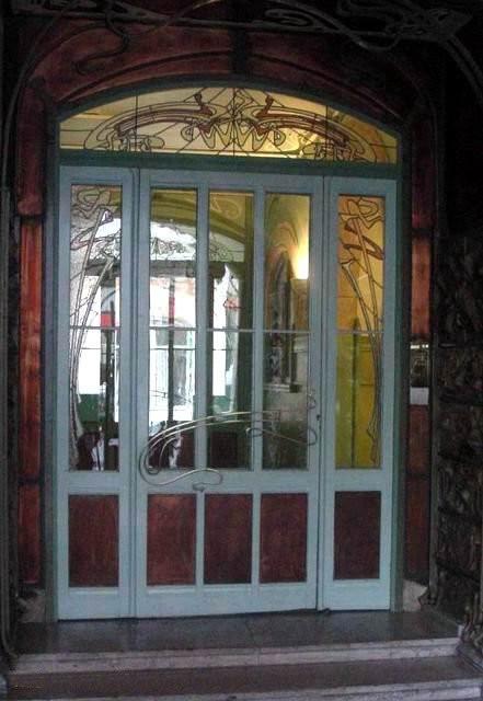 Guimard - Grille du Castel Béranger -Porte intérieure