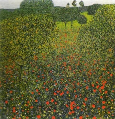 Gustav-Klimt - Field-of-Poppies