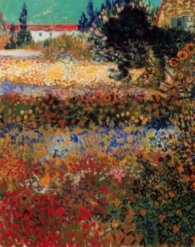 Vincent Van Gogh - Giardino-con-fiori - 1888