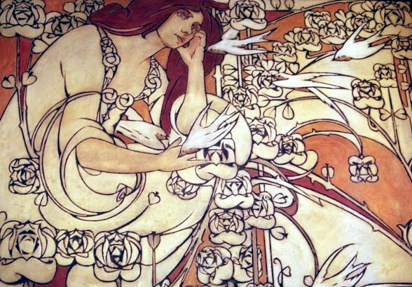Paul Cauchie - Maison Cauchie - sgraffites (décorations)