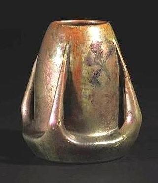 Clément Massier - Céramique irisée - Lampe