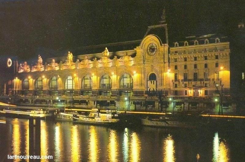 Musée d'Orsay - façade ouest de nuit
