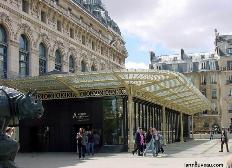 Musée d''Orsay - Entée avec auvent