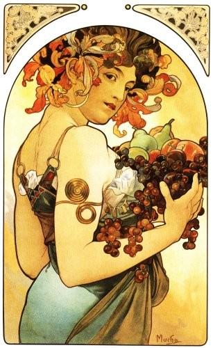 Alphonse Mucha - Le fruit - 1897
