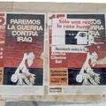 Affiche contre guerre Irak Madrid Mars 2003