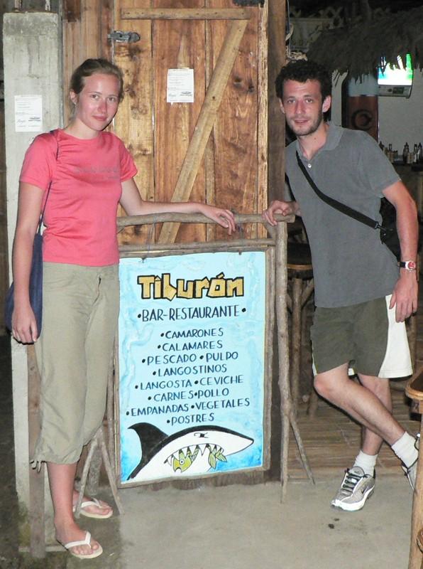 Le Tiburon, notre resto prefere a Montanita