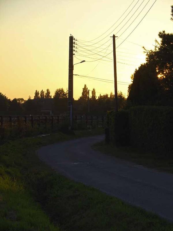 Route de nuit.