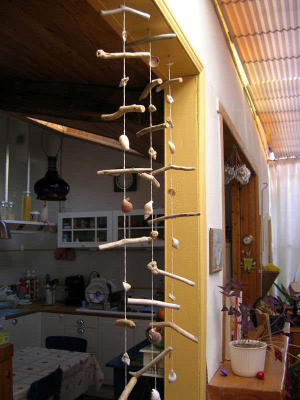 Mobile d co nature cr ations en bois flott for Bricolage mobile en bois flotte