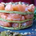 millefeuille de tartare de saumon