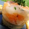 Tartare de st jacques, saumon et artichaut 2