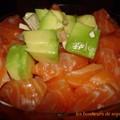Verrine de tartare de saumon zoom 2