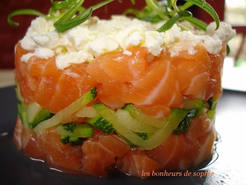 Tartare de saumon et feta zoom saumon
