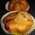 Muffins aux cranberries d'Estelle