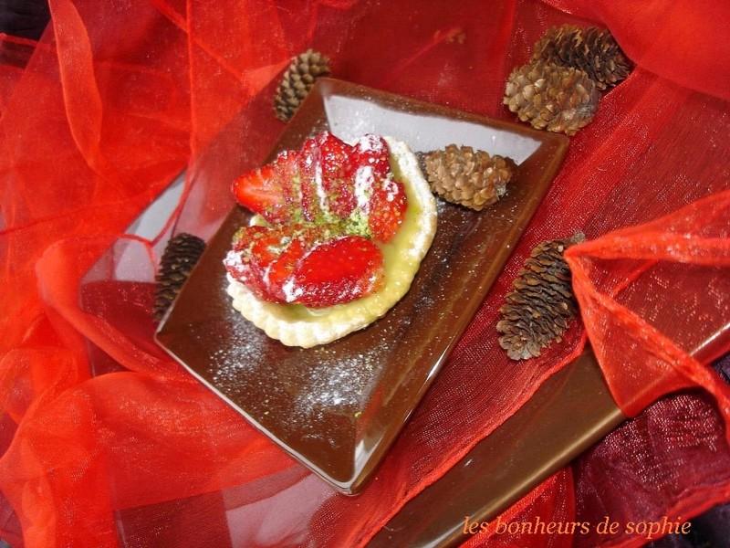 tartelettes aux fraises et pistaches