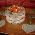 Millefeuille d'aubergine au céleri et crabe