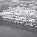 vue aérienne de la base sous-marine