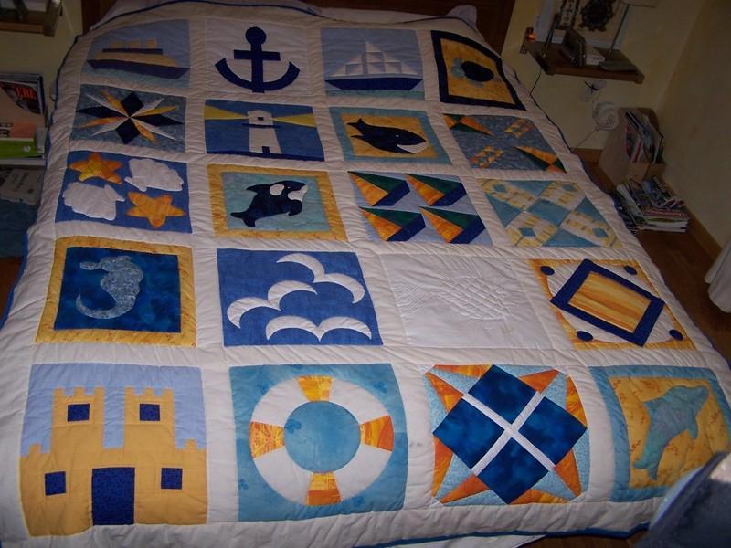 ambiance bord de mer patchworks broderies tricots d copatch et autres cr ations. Black Bedroom Furniture Sets. Home Design Ideas