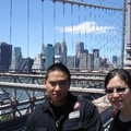 Emilie & Christophe sur le Brooklyn Bridge