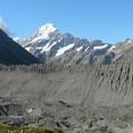 les moraines latérales du glacier Tasman