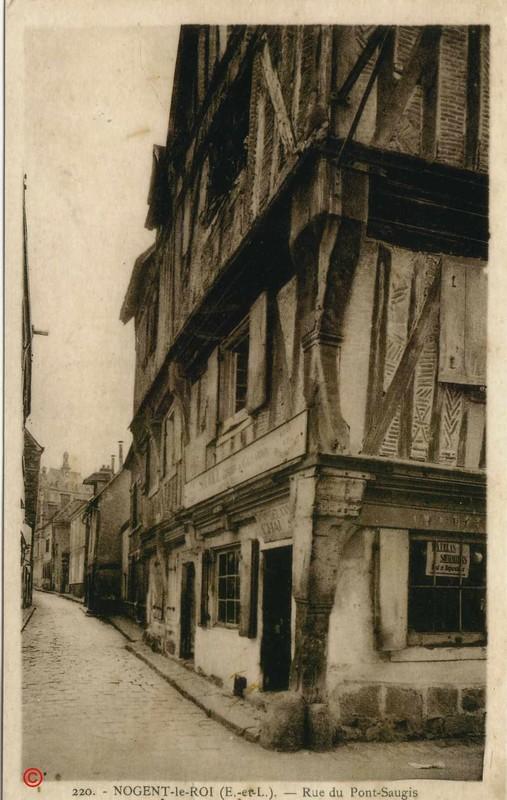 Maisons à pans de bois à Nogent-le-Roi