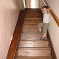 La montée de l'escalier bientôt en rénovation