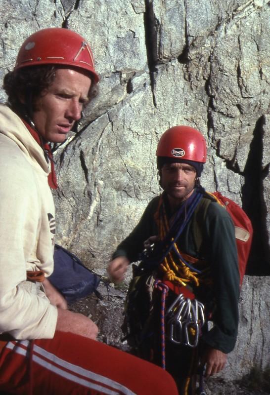 Jeef et Bernard Amy à Temple Crag (Sierra Nevada, Californie)