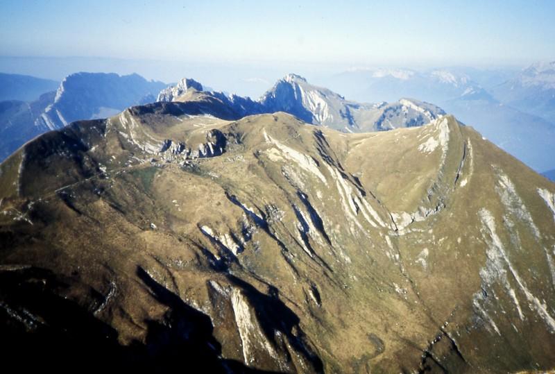 La montagne du Charbon, vue du Trélod (sud)