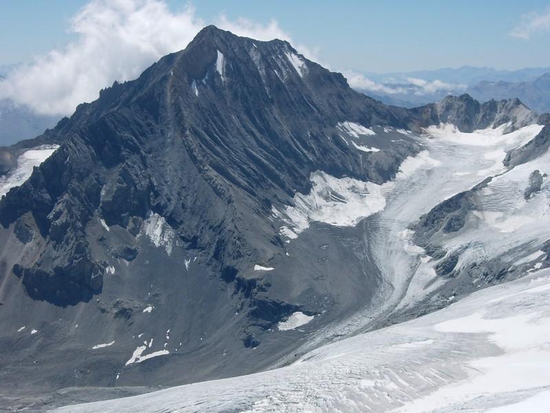 La Dent Parrachée et le glacier de la Mahure (août 2005)