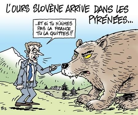 l ours arrive