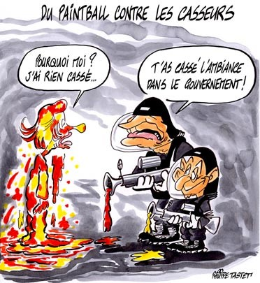 paintball chirac sarkozy