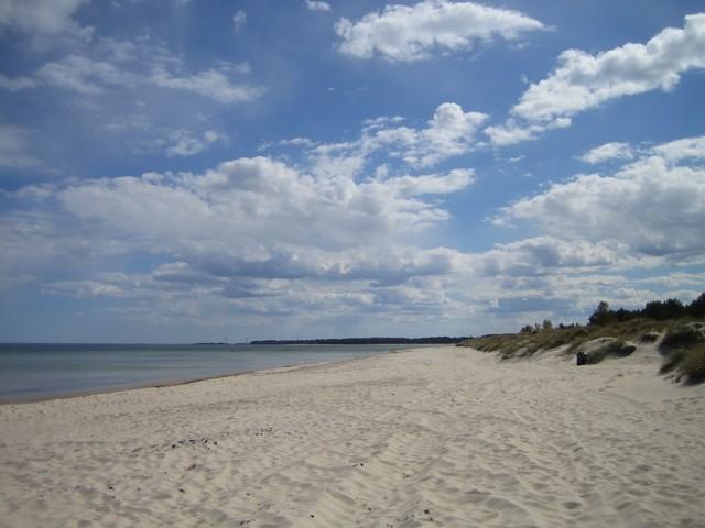 Böda sand, la plus grande plage de l'île, au Nord-Est