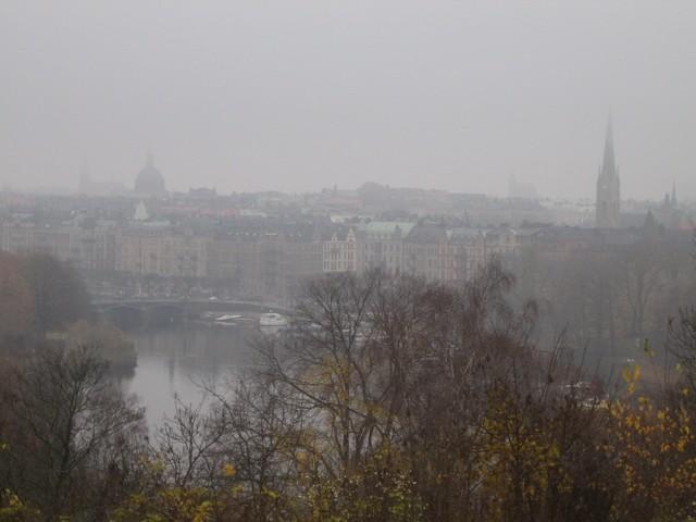 Vue sur Stockholm (sous le brouillard)