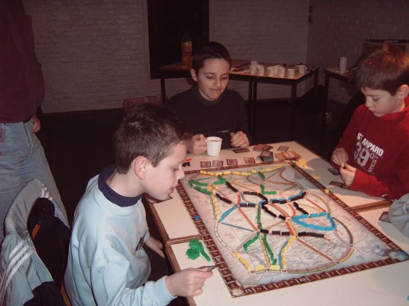 Galette des rois en janvier 2005