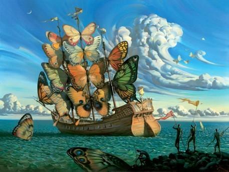 J'adore les tableaux de Salvator Dali