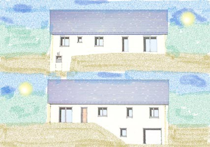 Dessin des facades construction de notre maison la loge for Dessins de construction de maison