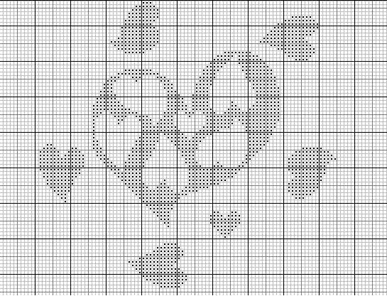 Point de croix grille gratuite n 1 des couleurs et des points - Point croix grilles gratuites ...