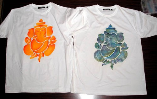 T-shirts Ganesh peints