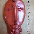 masque africain- porte-clefs ou bijou de sac