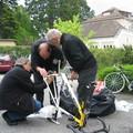 Le début du puzzle, avec l'aide de Laurent et Jacques M.