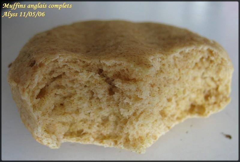 muffins anglais complets ou non   u00e0 la levure chimique