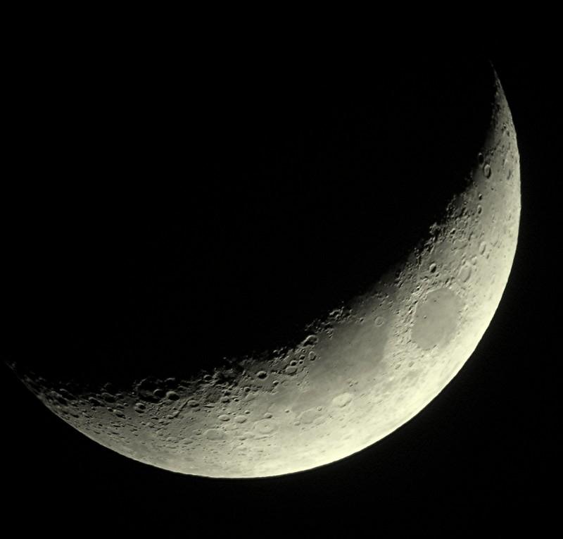 Croissant de Lune de 4 jours