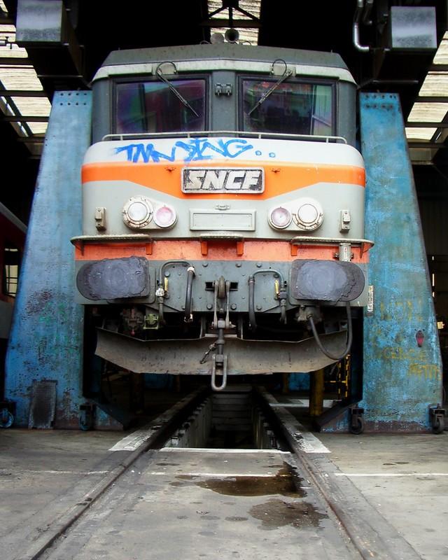 BB 7200 sur le pont levant