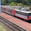 BB 8619 assurant un service voyageur sur la ligne du Médoc