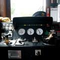 Poste de conduite d'un petit train de campagne