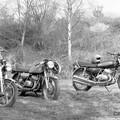 Honda 350 Four et Kawas 400 et 350 en 1974
