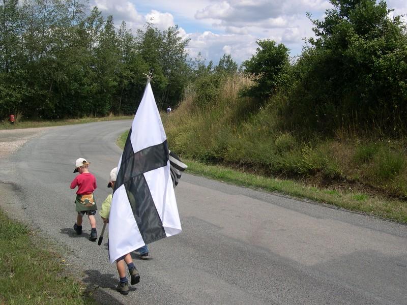 Kroaz Du - Drapeau national breton historique / 12ème S.