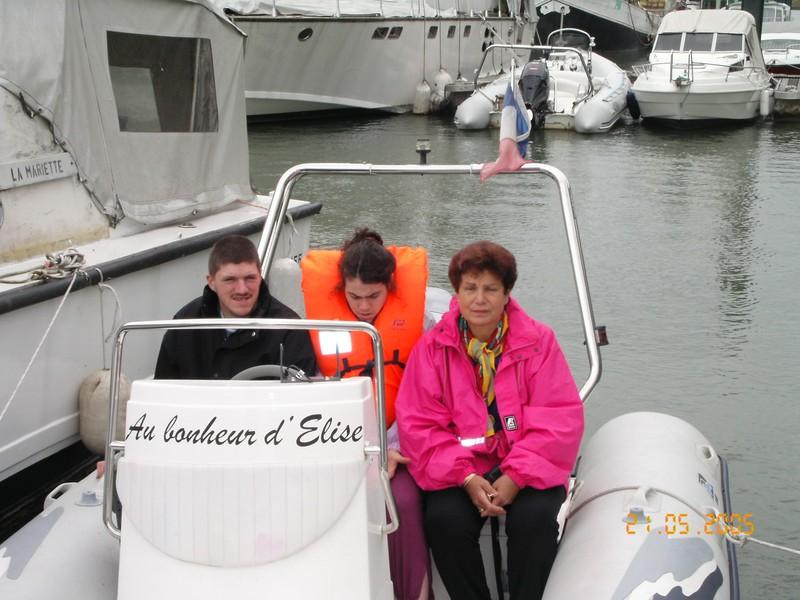 avec Sylvain un copain d'Elise et Maman