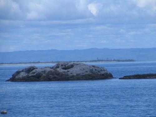 La Crique, l'île Sainte-Marie au fond Madagascar