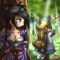 Sheena essayant de surprendre Colette