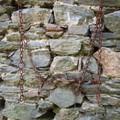 le mur de la crèche écroulée,les chaines pour les vaches